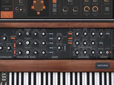 Arturia minimoog mini v software synthesizer (vst, au plugin.