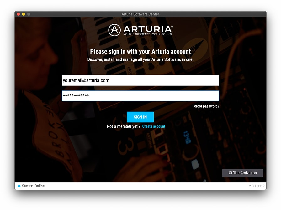 arturia software center offline