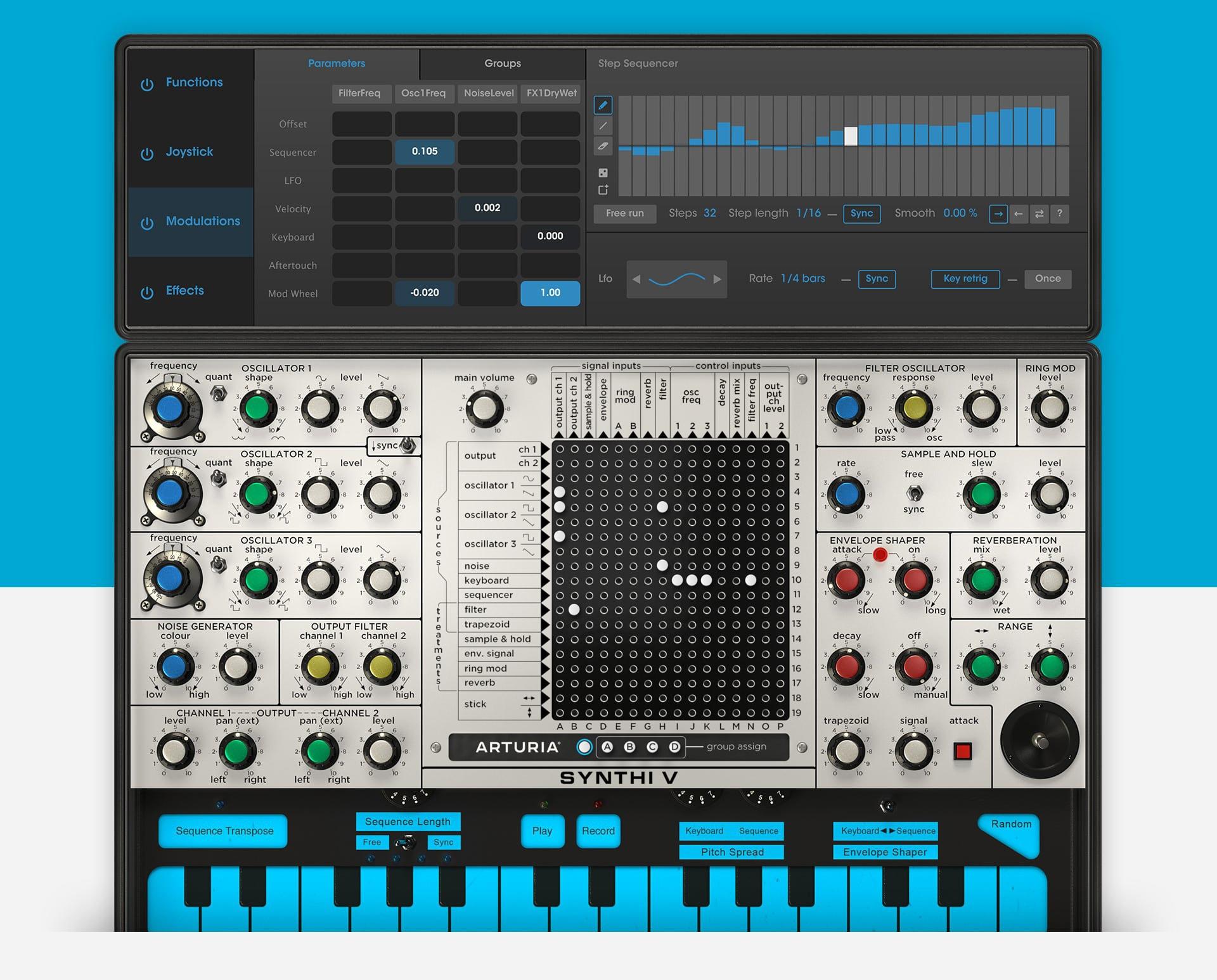 Arturia Synthi V Mac 破解版 音频模拟合成软件